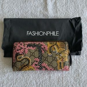 Gucci GG Supreme Monogram Bengal Zip Around Wallet